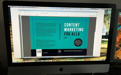 Nu går boken Content Marketing för alla till  tryckeriet