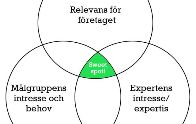 """Hitta varje experts """"sweet spot"""" för bättre content marketing"""